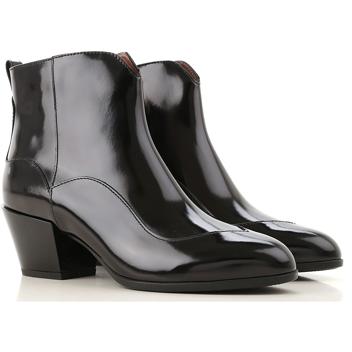 Hogan Boots for Women, Booties On Sale, Black, Patent Leather, 2019, 5 6 6.5 8 8.5 9