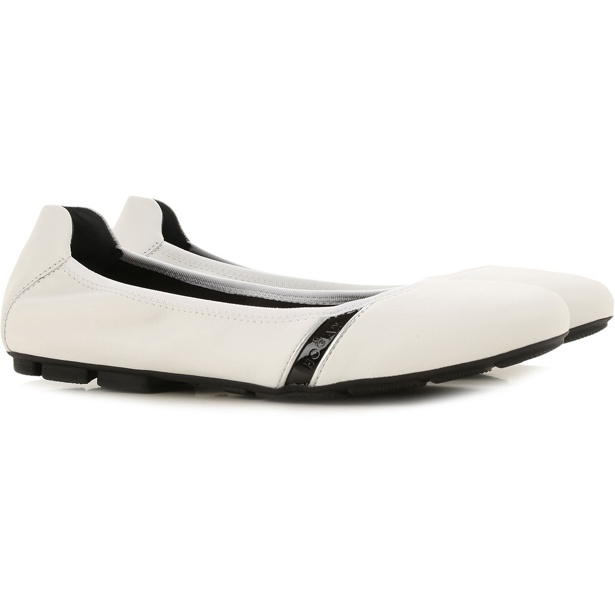 Hogan Ballet Flats Ballerina Shoes for Women On Sale, White, Leather, 2019, 10 5 5.5 6 6.5 7 8 8.5 9 9.5