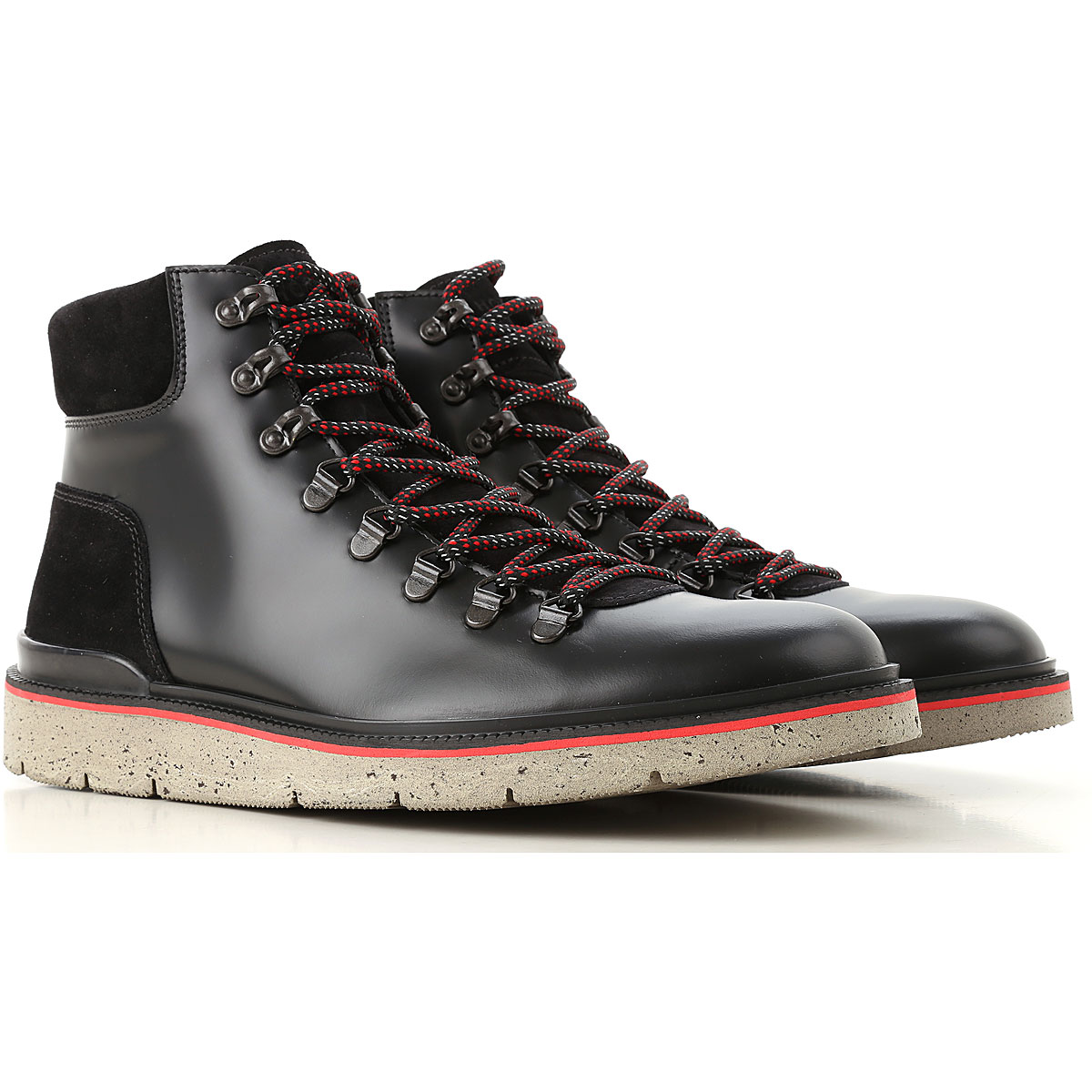 Image of Hogan Boots for Men, Booties, Black, Leather, 2017, 10 10.5 11 6 7 7.5 8 8.5 9 9.5