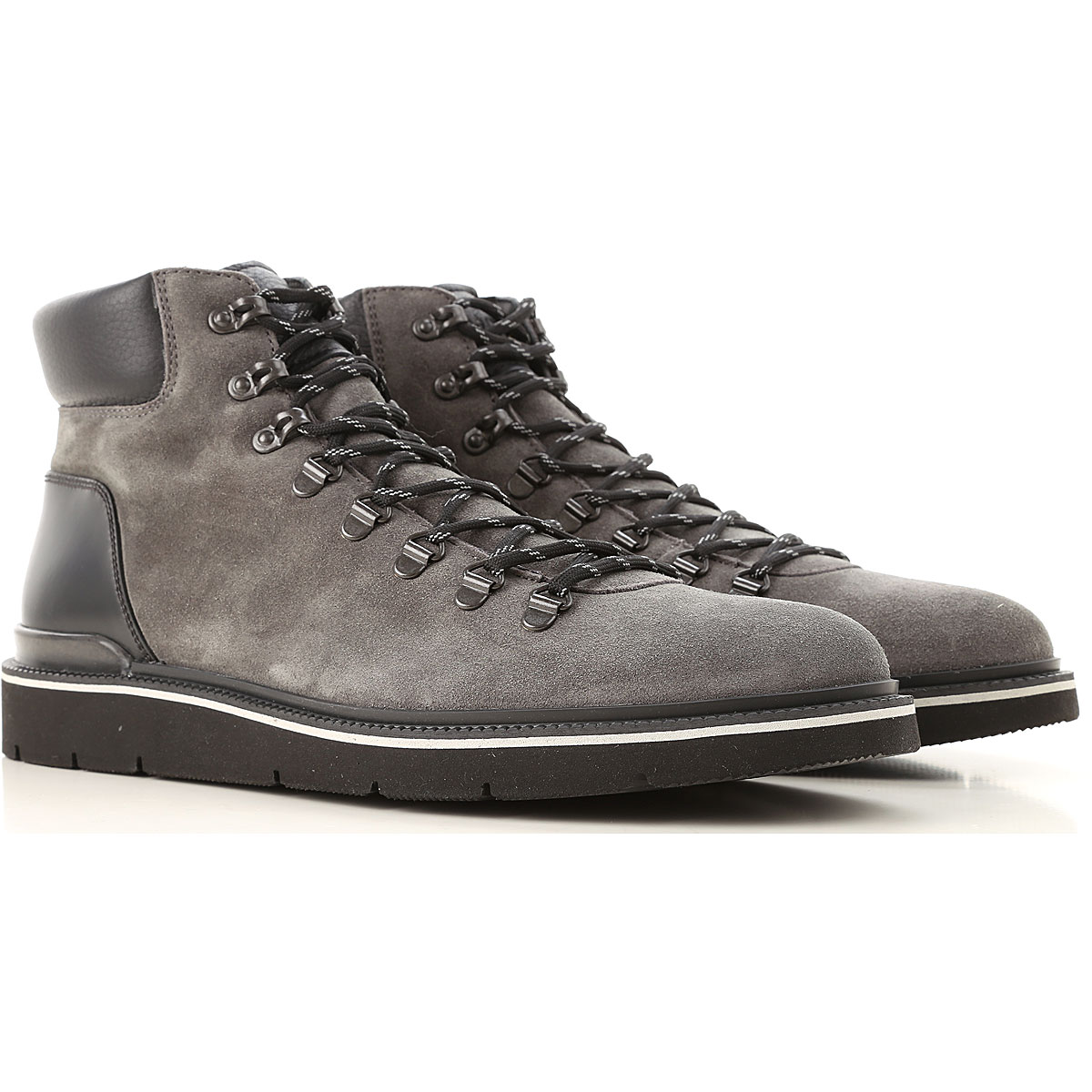 Image of Hogan Boots for Men, Booties, Anthracite Grey, Suede leather, 2017, 10 10.5 11 11.5 12 6 7 7.5 8 8.5 9 9.5