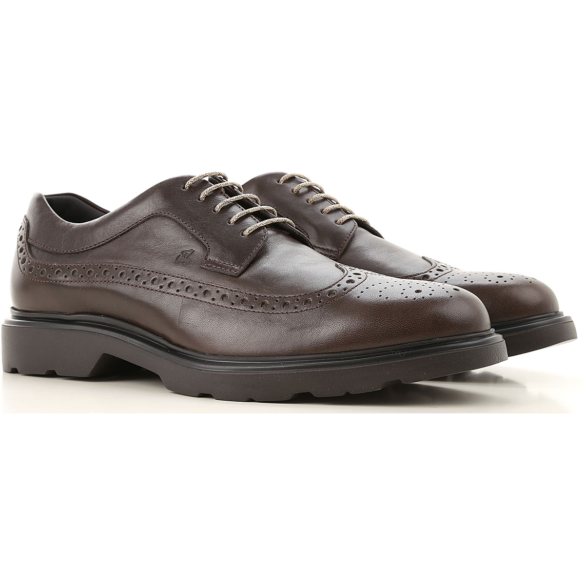 Hogan Brogue Shoes On Sale, Ebony, Leather, 2019, 10 9