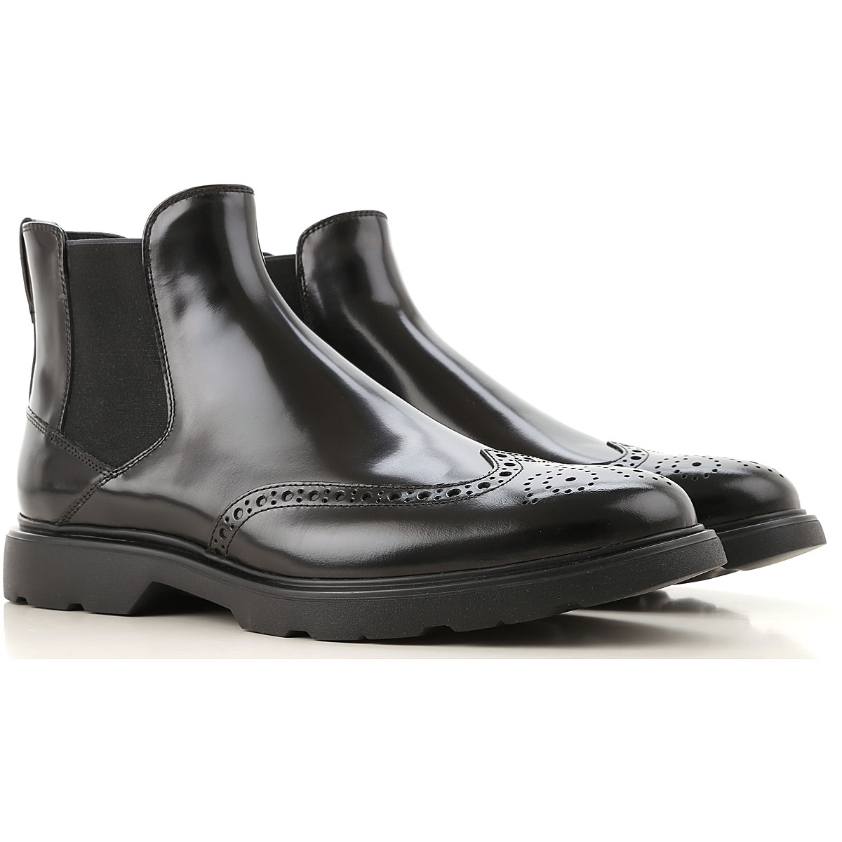 Hogan Chelsea Boots for Men On Sale, Black, Leather, 2019, 10 10.5 11 6 7 8.5 9 9.5
