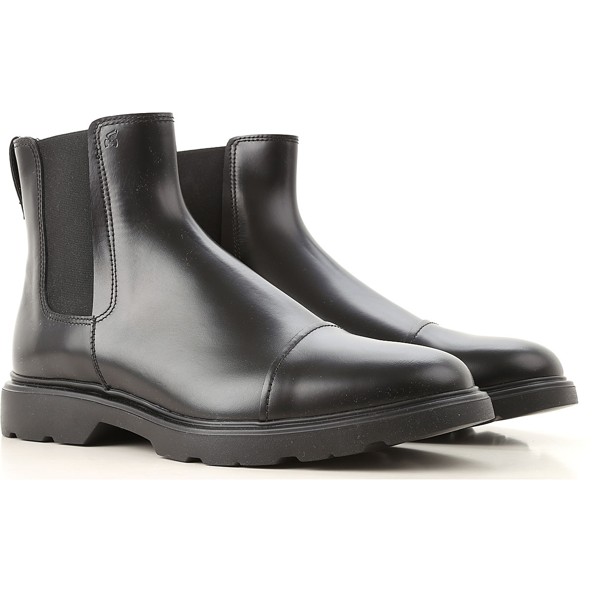 Image of Hogan Boots for Men, Booties, Black, Leather, 2017, 10 11 7.5 8 8.5 9 9.5