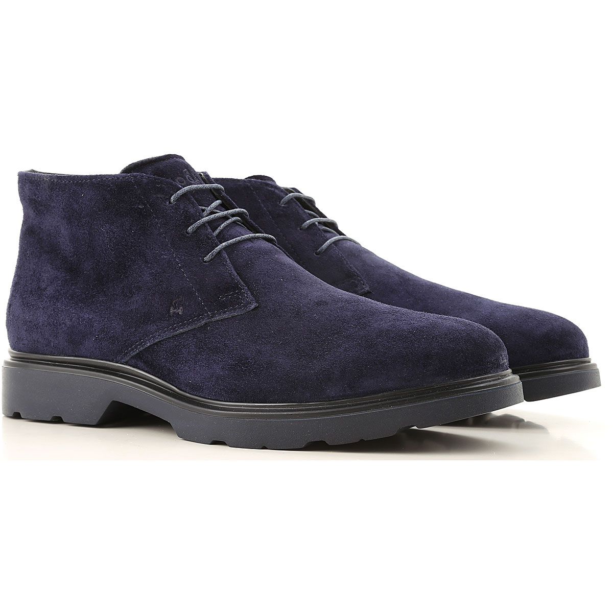Hogan Desert Boots Chukka for Men On Sale in Outlet, Blu, Suede leather, 2019, 10.5 6 8