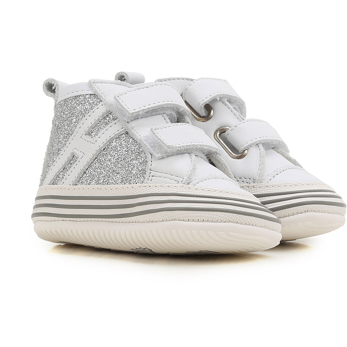 Image of Hogan Baby Shoes for Girls On Sale in Outlet, White, Leather, 2017, 18 20