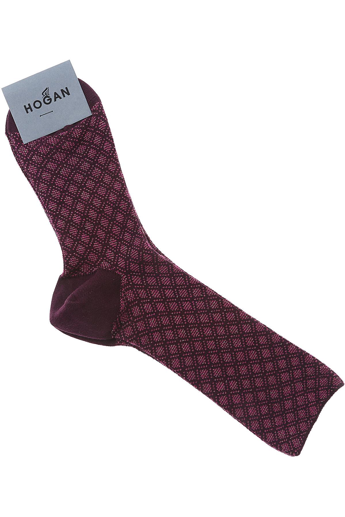 Image of Hogan Socks, Violet, Cotton, 2017