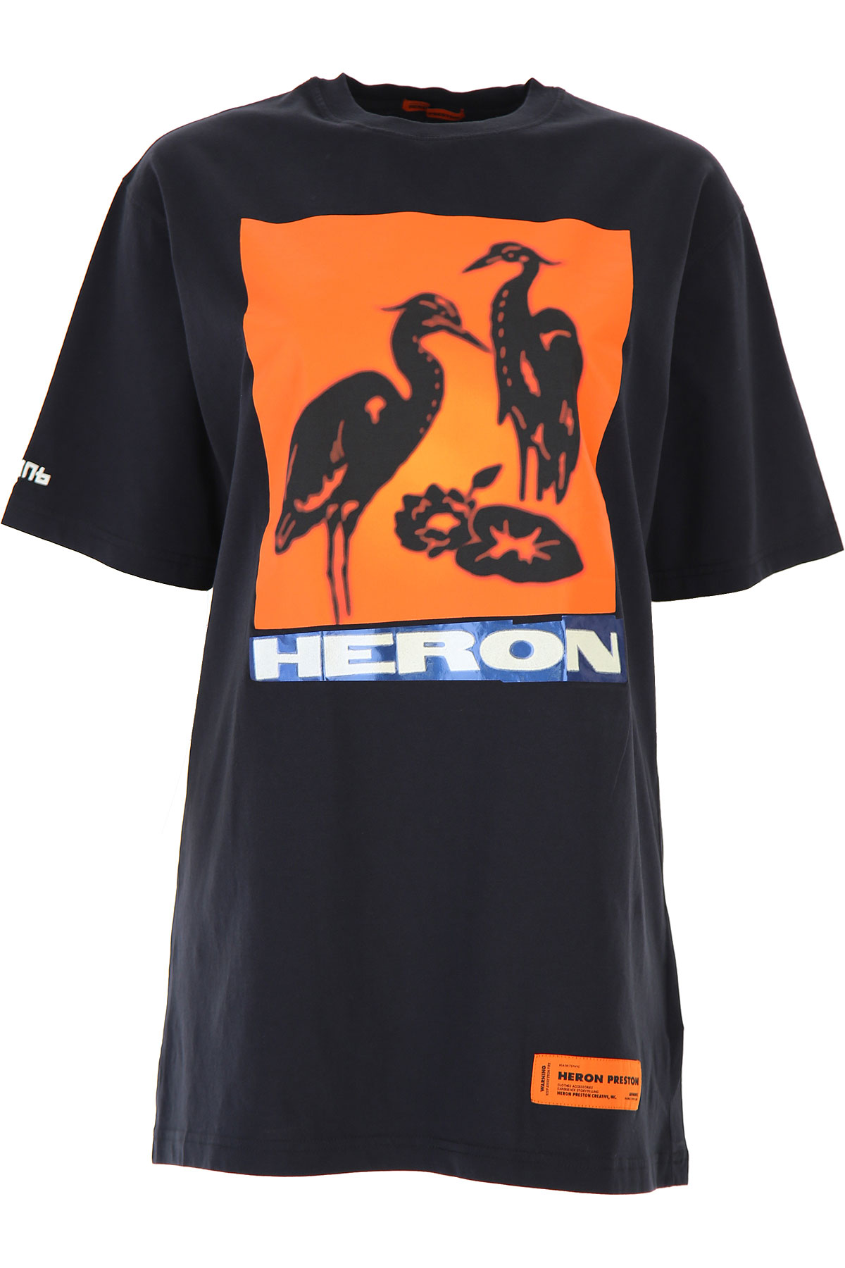 Heron Preston T-Shirt for Women On Sale, Black, Cotton, 2019, 2 4 6 8