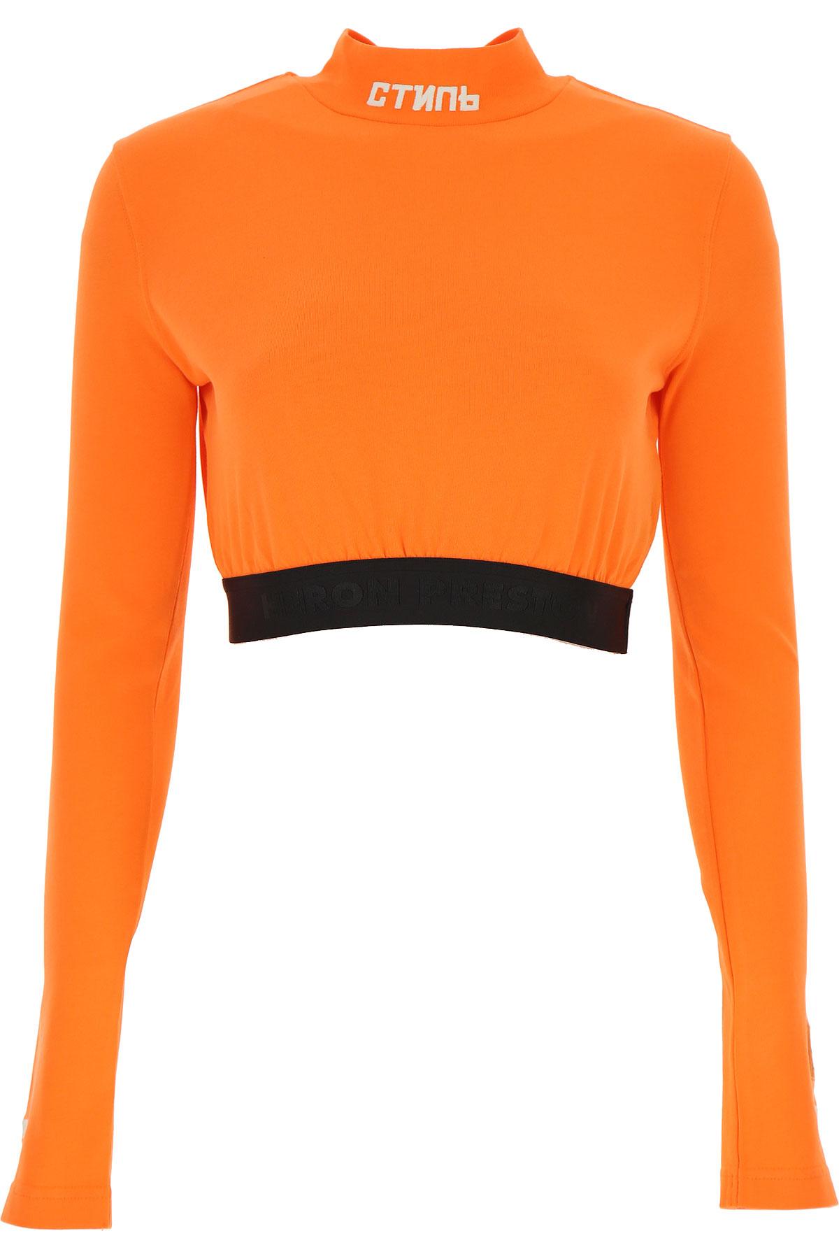 Heron Preston Top for Women On Sale, Orange, Cotton, 2019, 2 4 6