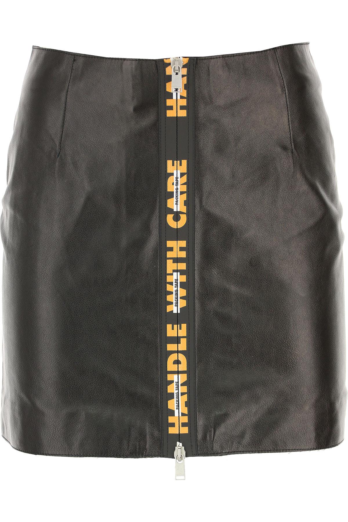 Image of Heron Preston Skirt for Women, Black, Leather, 2017, 2 4
