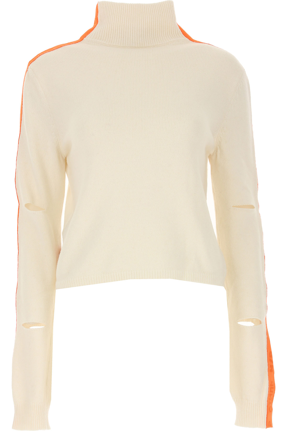Image of Heron Preston Sweater for Women Jumper, White, Extrafine Baby Merinos Wool, 2017, 2 4 6