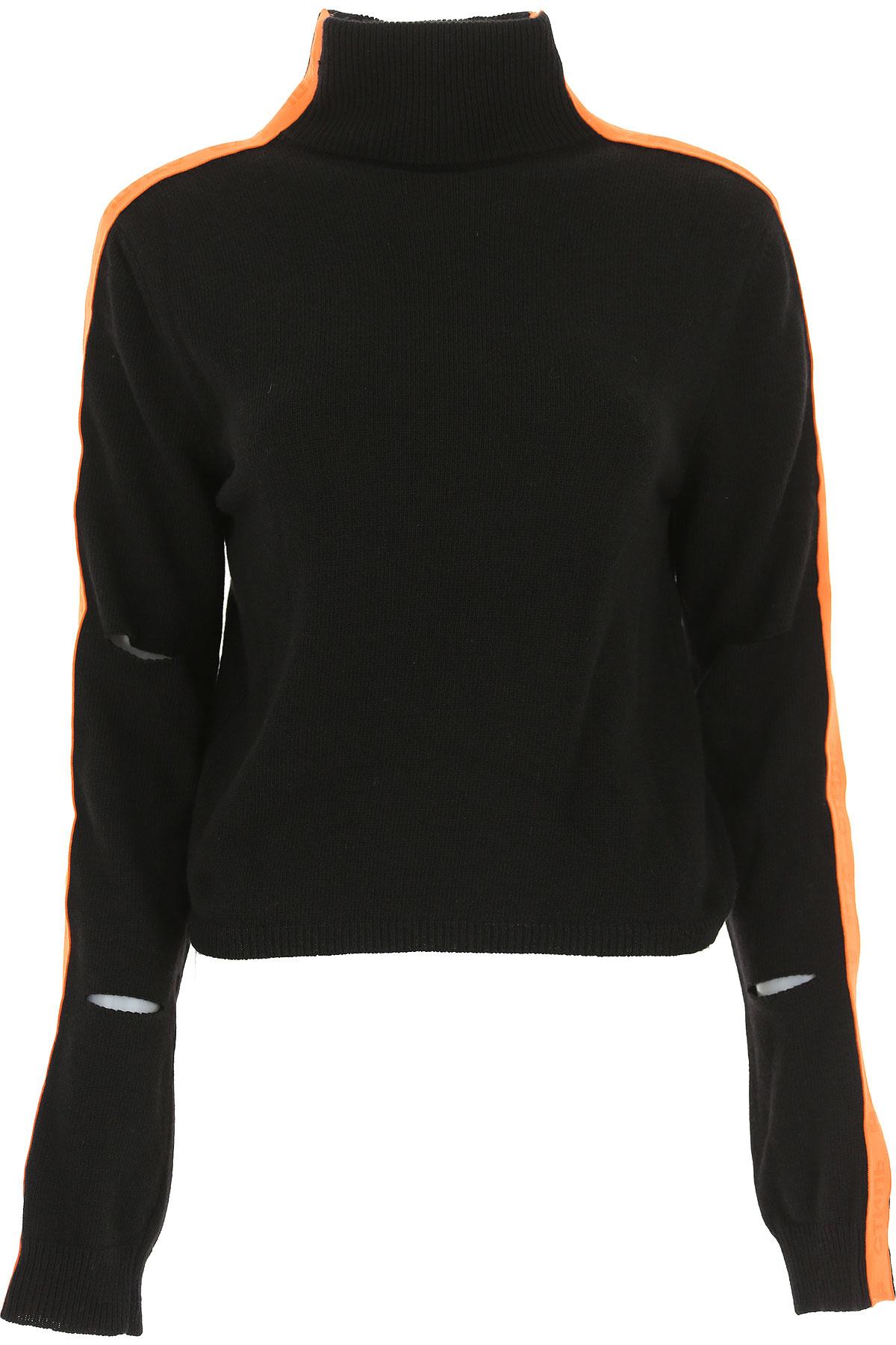 Image of Heron Preston Sweater for Women Jumper, Black, Extrafine Baby Merinos Wool, 2017, 2 4 6 8