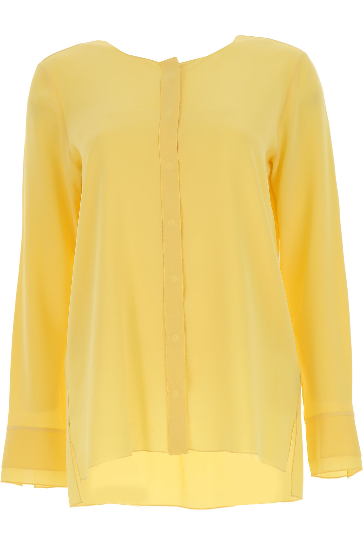 Image of Her Shirt Shirt for Women On Sale, Yellow, Silk, 2017, 4 6 8
