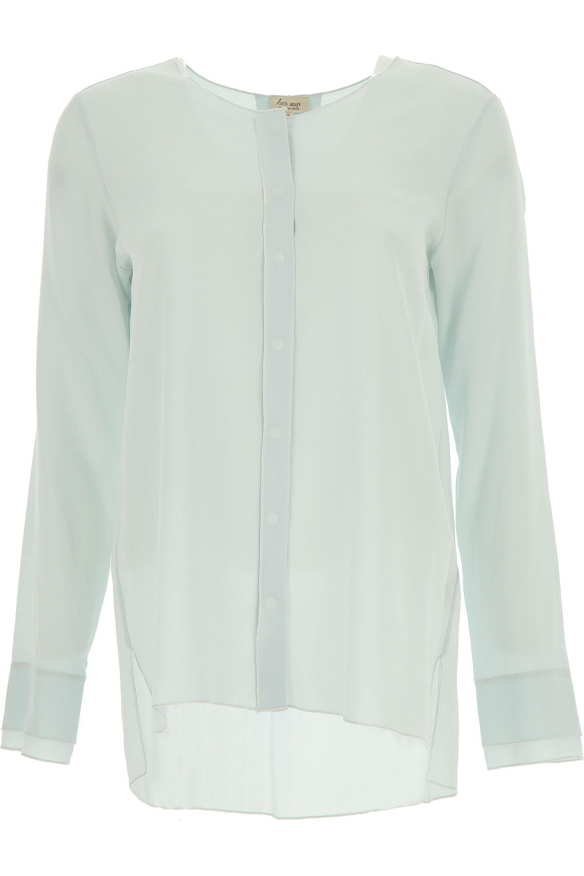 Image of Her Shirt Shirt for Women On Sale, Ice, Silk, 2017, 2 4 6 8