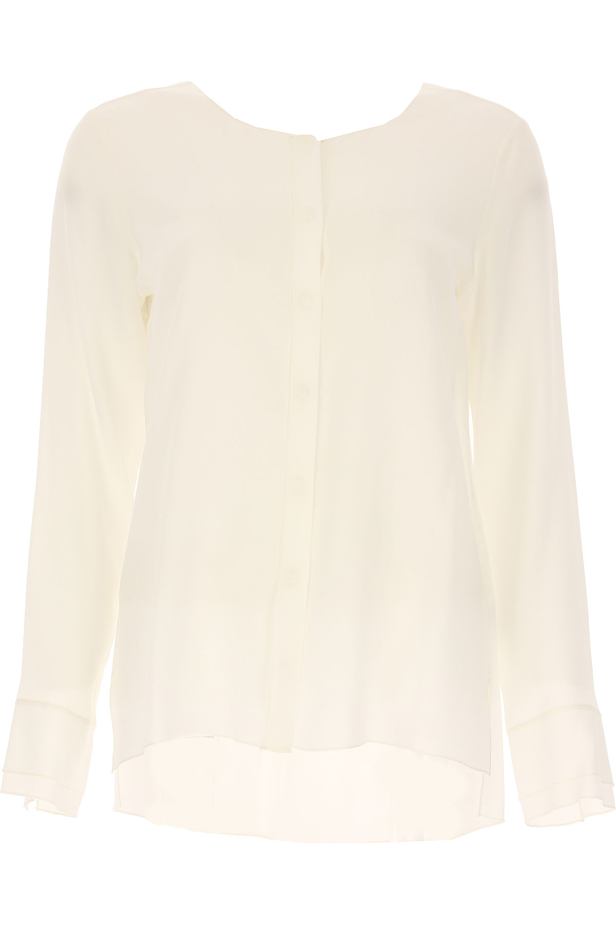 Image of Her Shirt Shirt for Women On Sale, White, Silk, 2017, 10 2 4 6 8