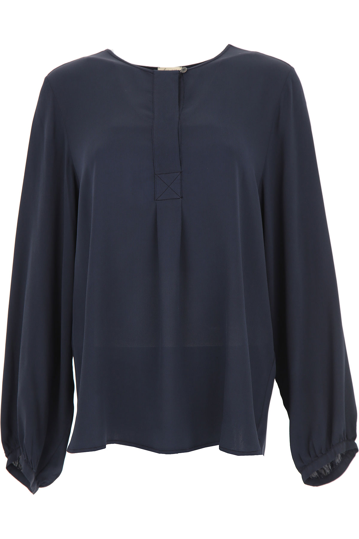 Image of Her Shirt Shirt for Women On Sale, Blue, Viscose, 2017, 2 8