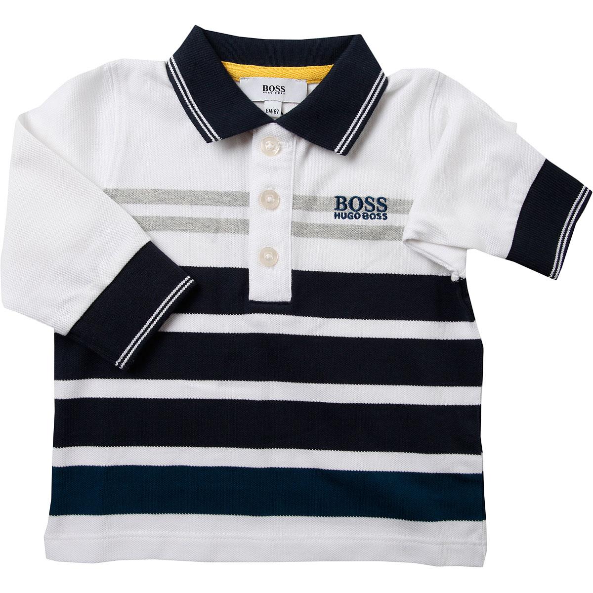 Image of Hugo Boss Baby Polo Shirt for Boys, White, Cotton, 2017, 12M 18M 2Y 3Y 6M 9M