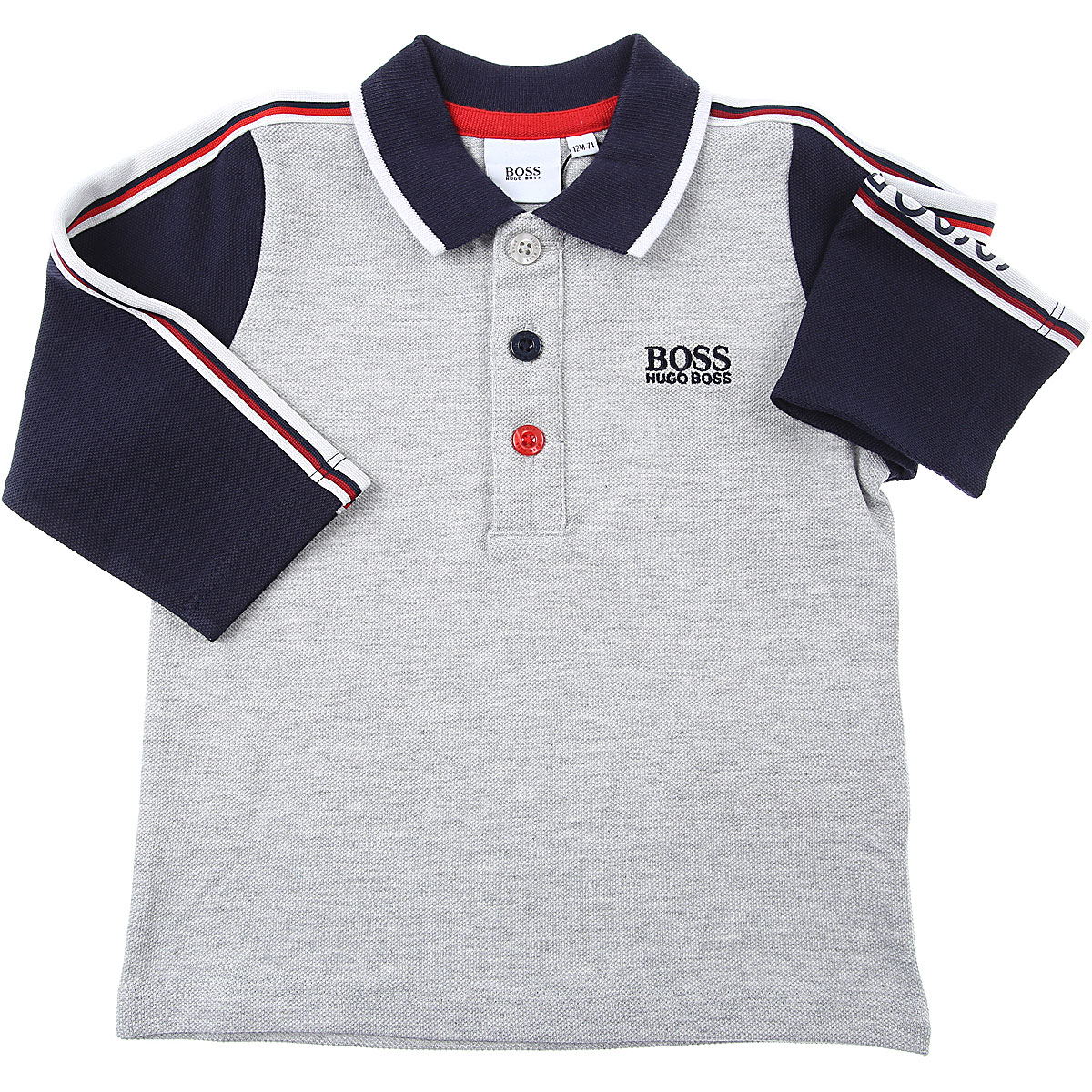 Hugo Boss Baby Polo Shirt for Boys On Sale, Grey, Cotton, 2019, 12 M 18M 2Y