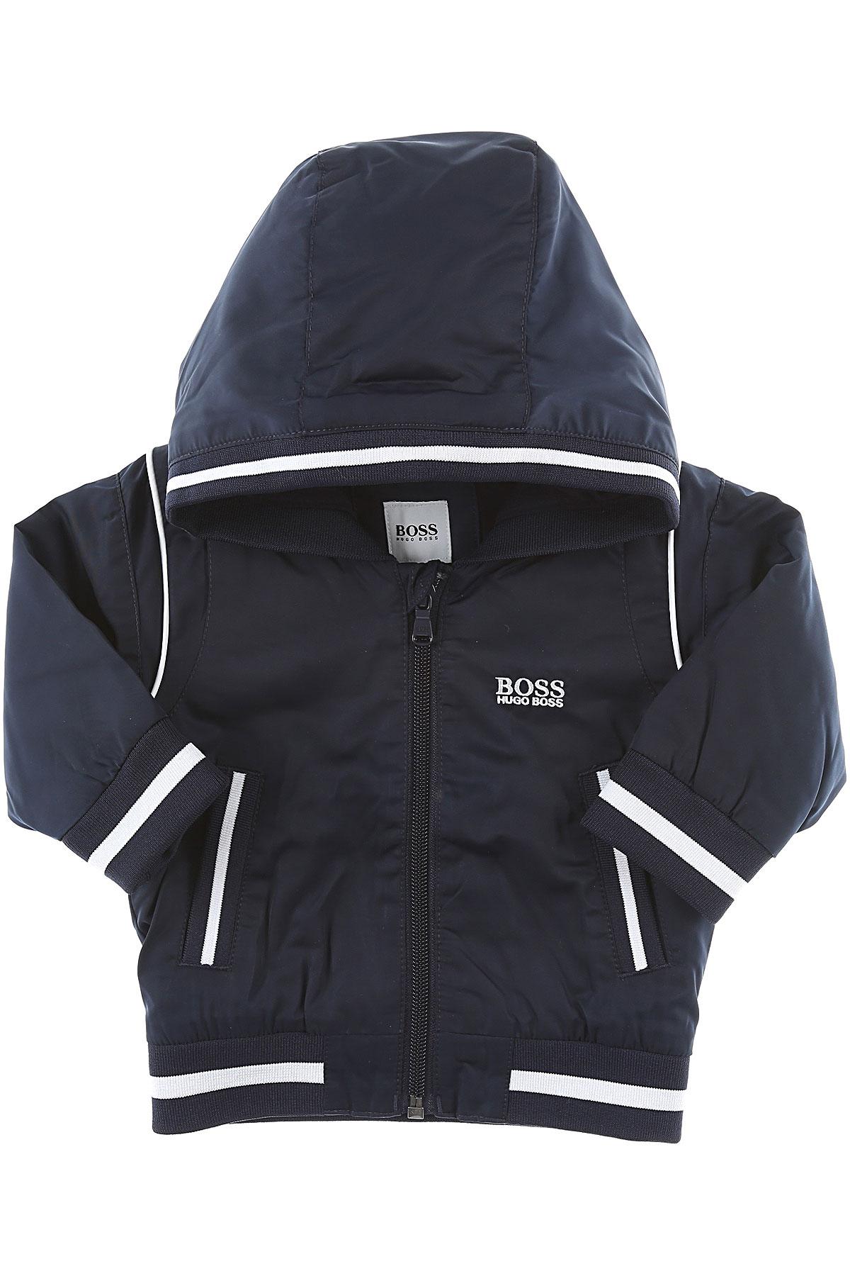 Image of Hugo Boss Baby Boy Clothing, Midnight Blue, polyester, 2017, 18M 2Y 6M 9M