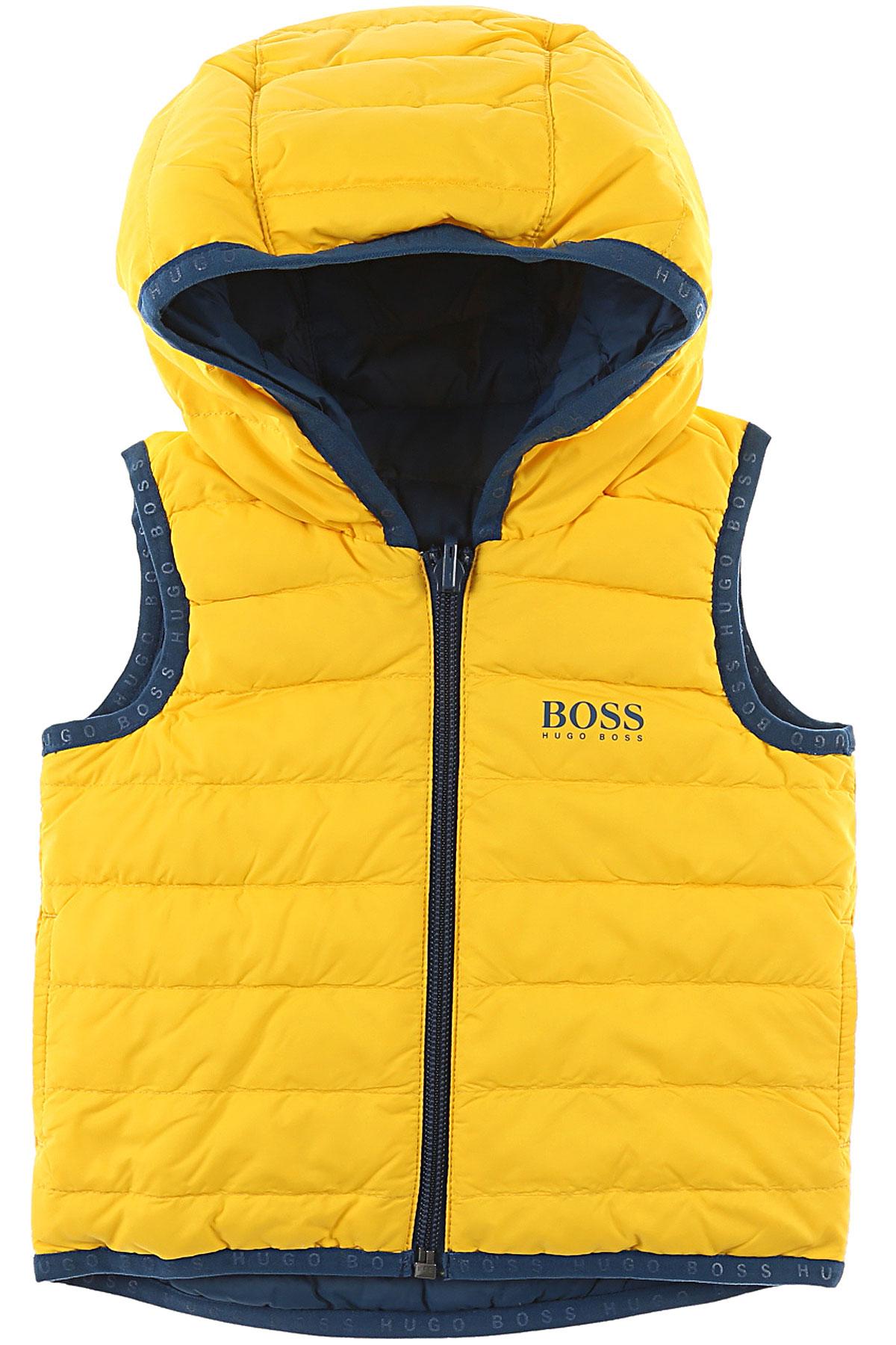 Image of Hugo Boss Baby Jacket for Boys, Yellow, polyamide, 2017, 18M 2Y 9M