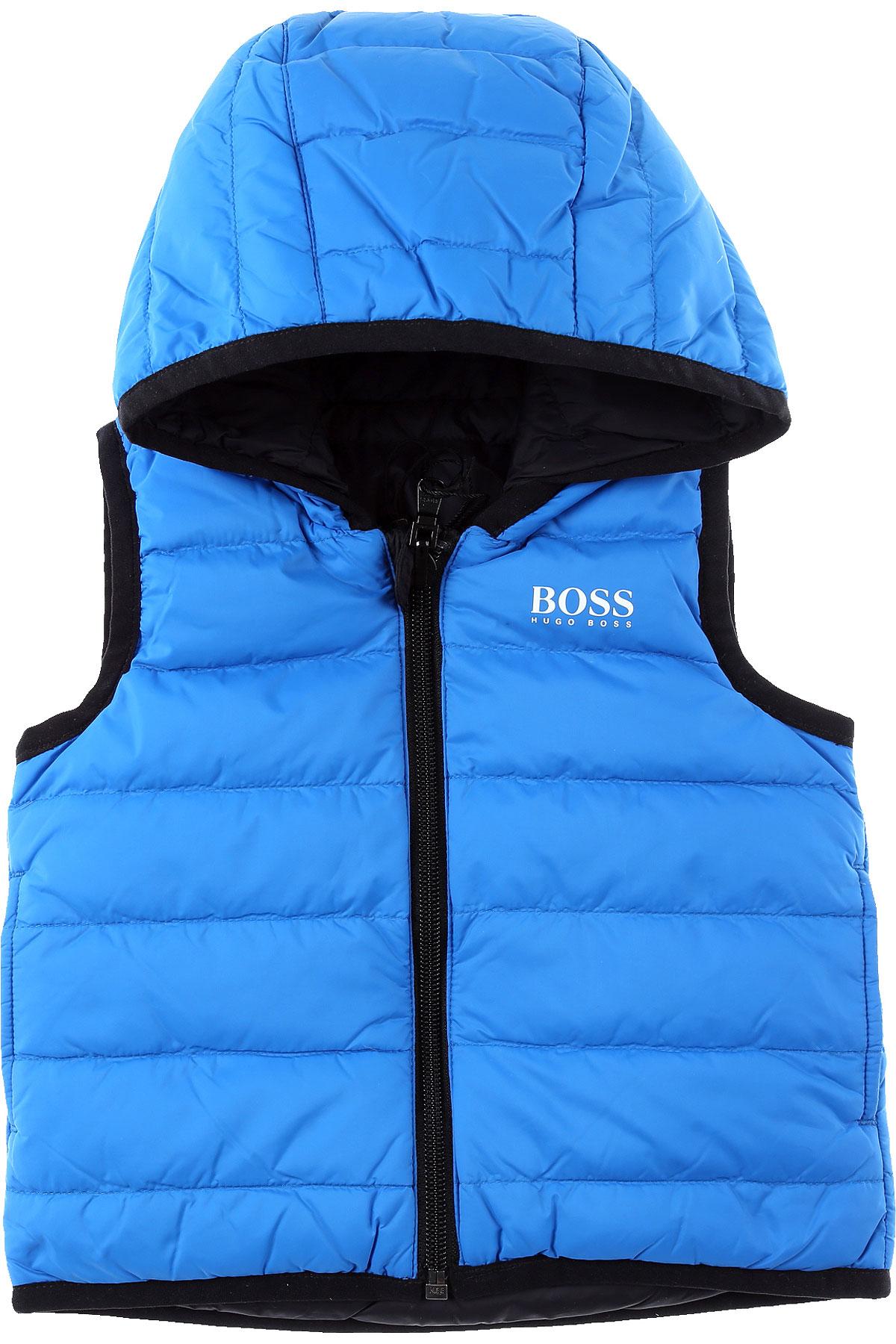 Hugo Boss Baby Down Jacket for Boys On Sale, Blue, polyamide, 2019, 2Y 3Y 9M