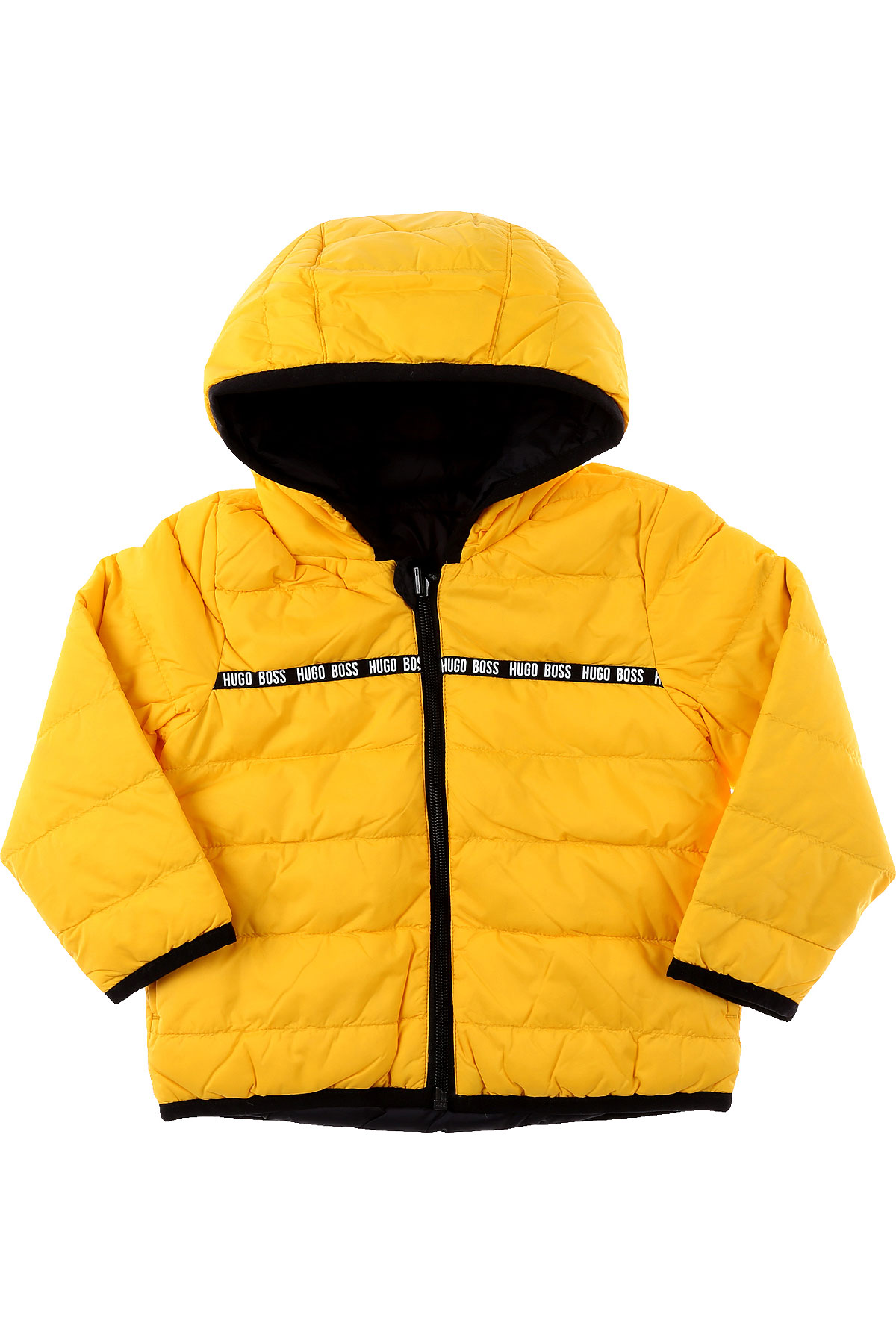 Hugo Boss Baby Down Jacket for Boys On Sale, Yellow, polyamide, 2019, 12 M 2Y 3Y 9M