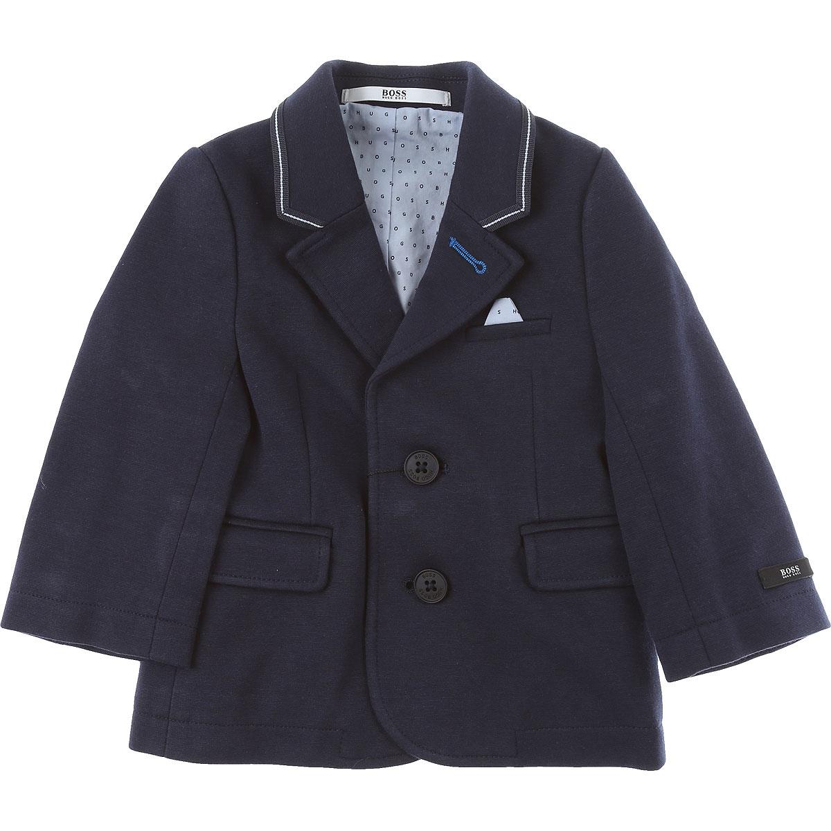 Hugo Boss Baby Jacket for Boys On Sale, Blue, Cotton, 2019, 18M 2Y 3Y 6M 9M