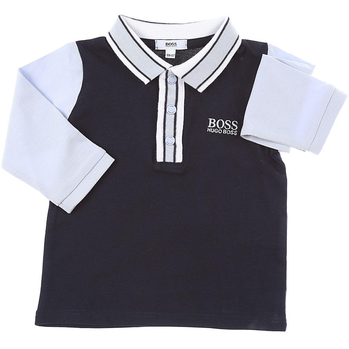 Hugo Boss Baby Polo Shirt for Boys On Sale, Blue, Cotton, 2019, 12 M 18M 3M 6M