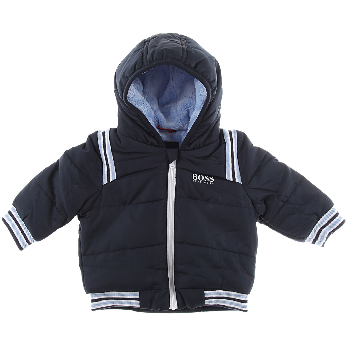Image of Hugo Boss Baby Coats for Boys, Navy Blue, polyester, 2017, 12M 9M