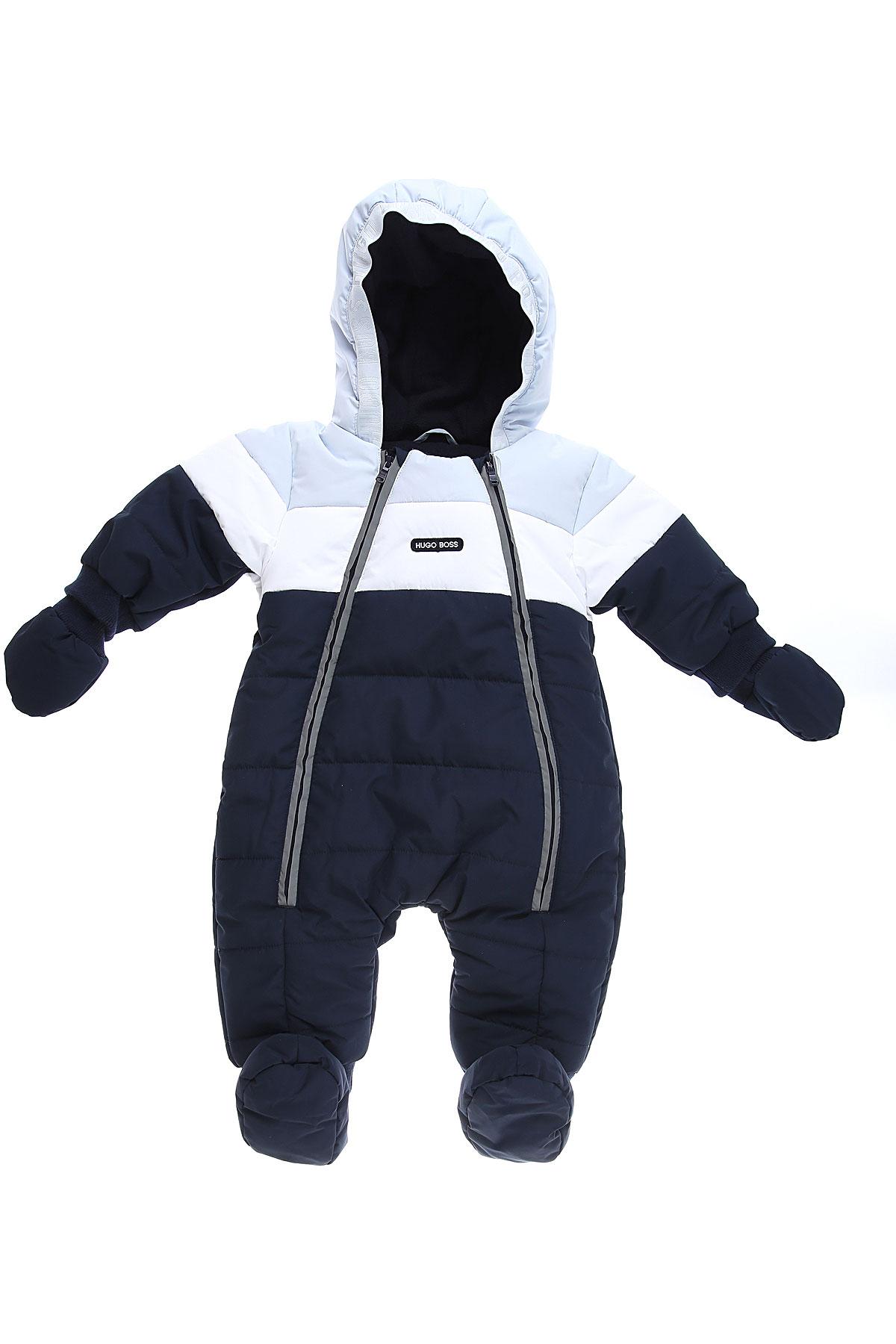 Hugo Boss Baby Bodysuits & Onesies for Boys On Sale, Blue, polyester, 2019, 3M 6M 9M