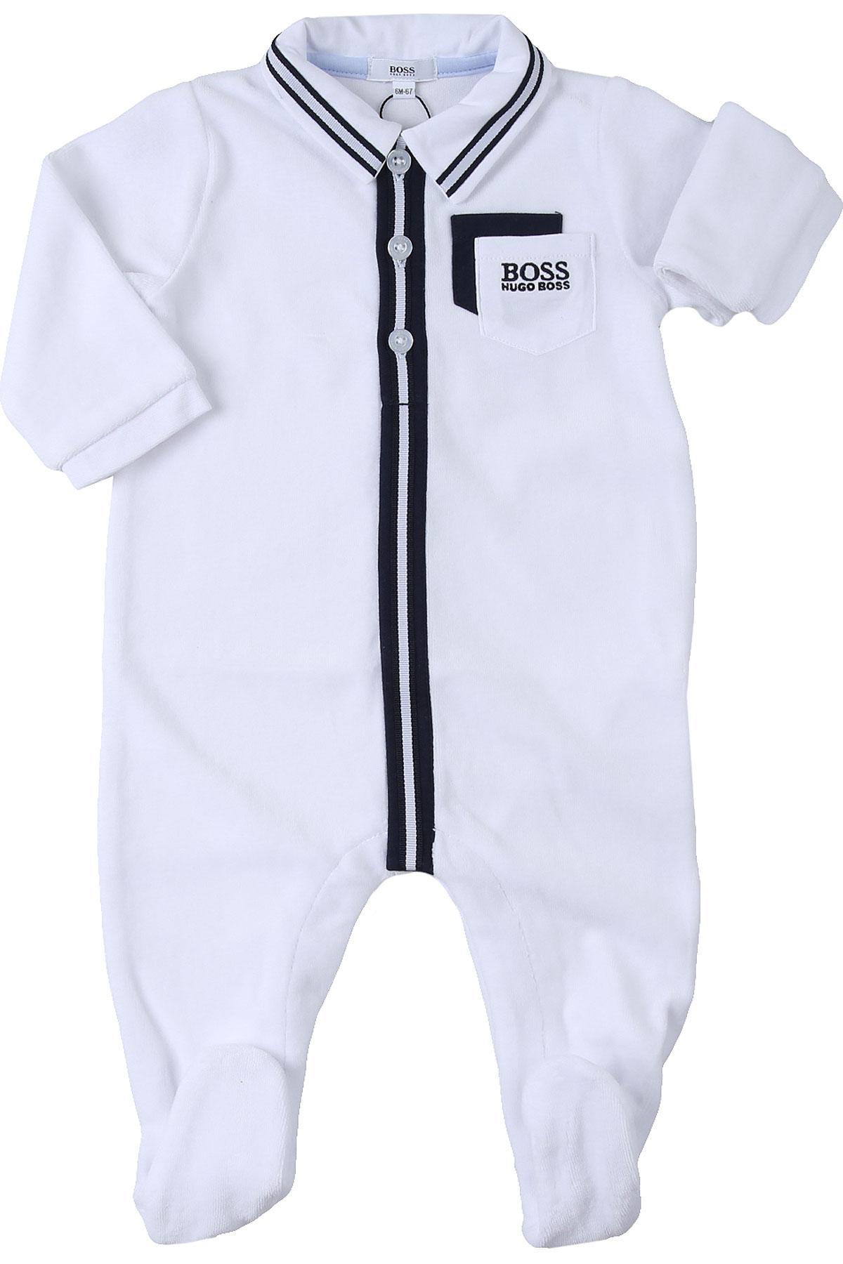 Hugo Boss Baby Bodysuits & Onesies for Boys On Sale, White, Cotton, 2019, 3M 6M