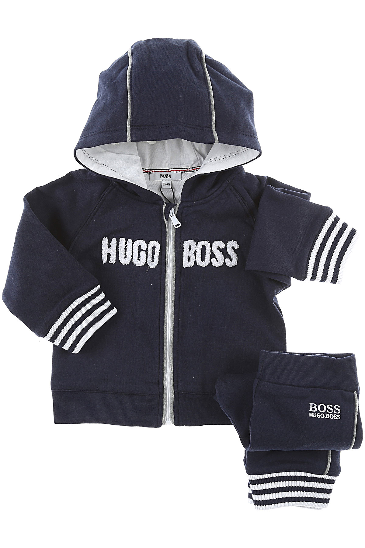Image of Hugo Boss Baby Sets for Boys, Blue, Cotton, 2017, 18M 6M 9M