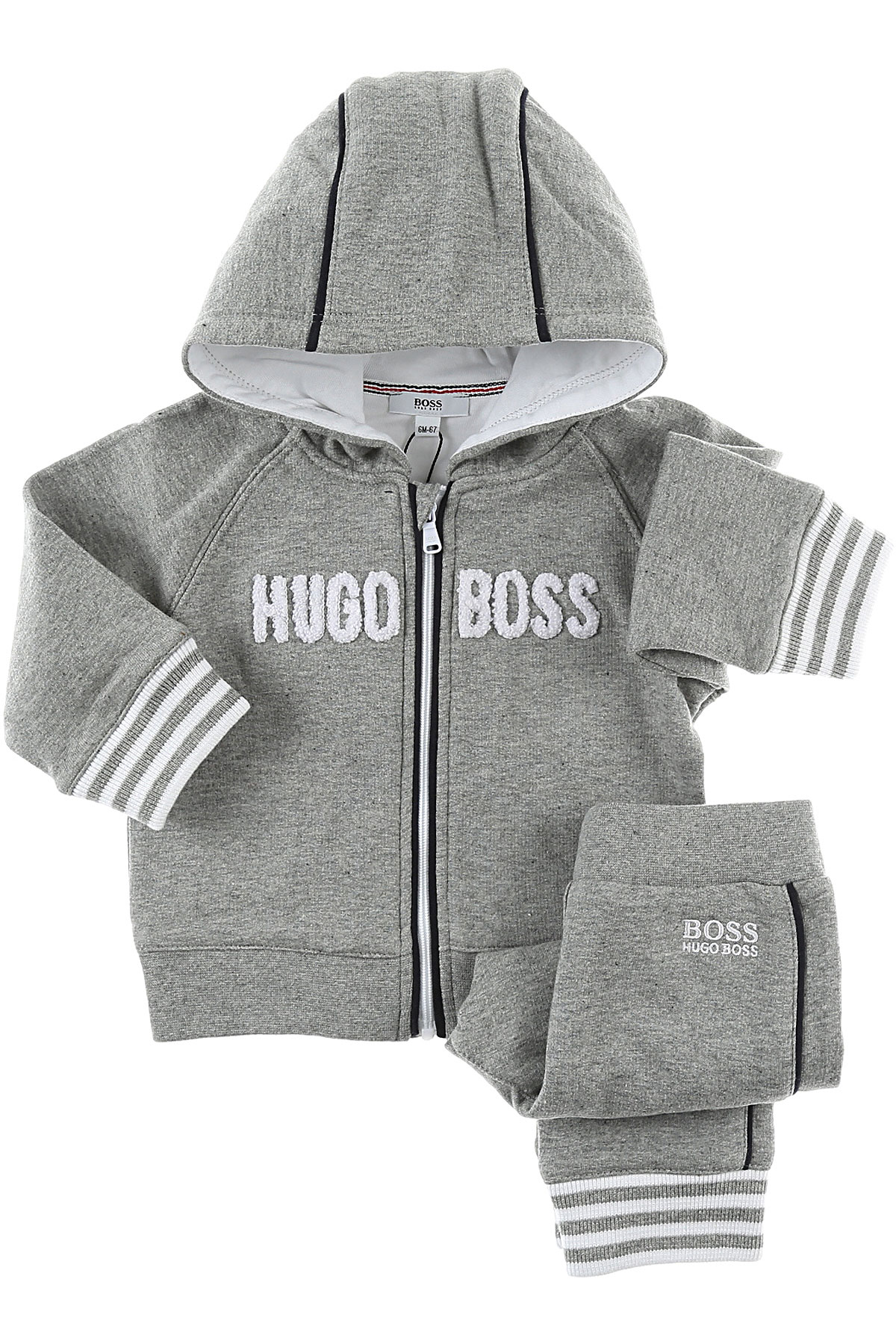 Image of Hugo Boss Baby Sets for Boys, Grey, Cotton, 2017, 12M 9M