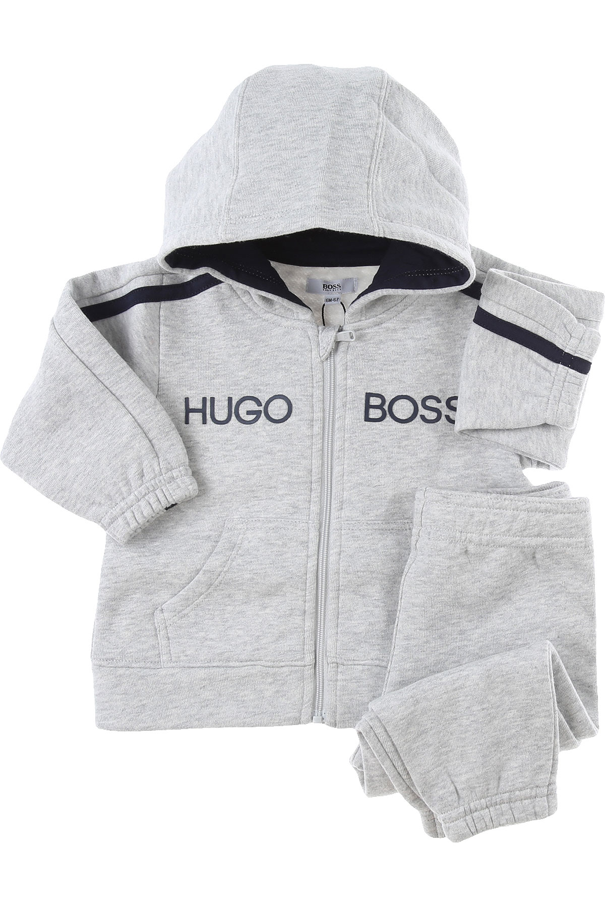 Hugo Boss Baby Sets for Boys On Sale, Grey, Cotton, 2019, 18M 3M 6M 9M