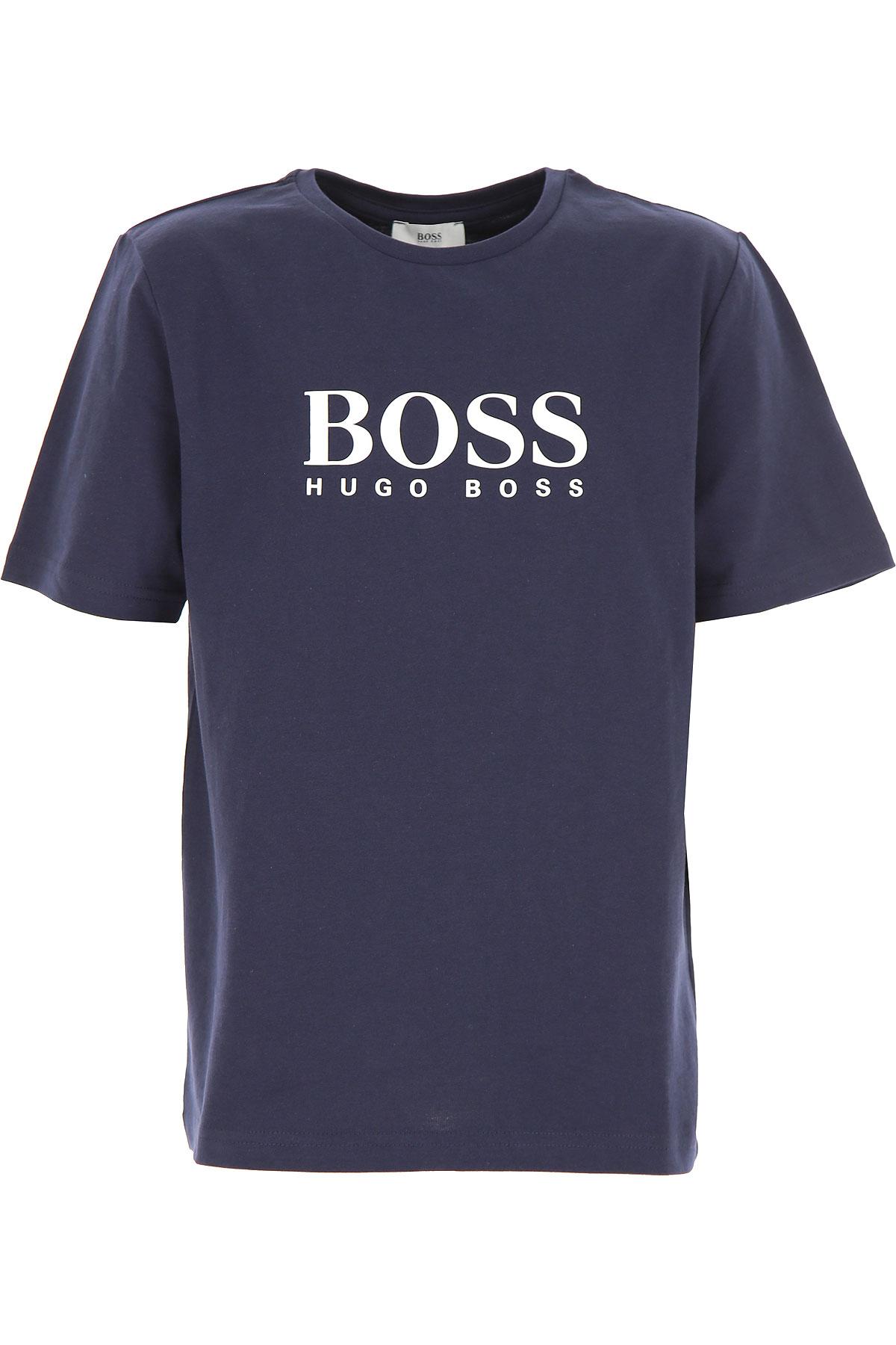 Hugo Boss Camiseta para Niño Baratos en Rebajas, Marina, Algodon, 2017, 5Y 6Y
