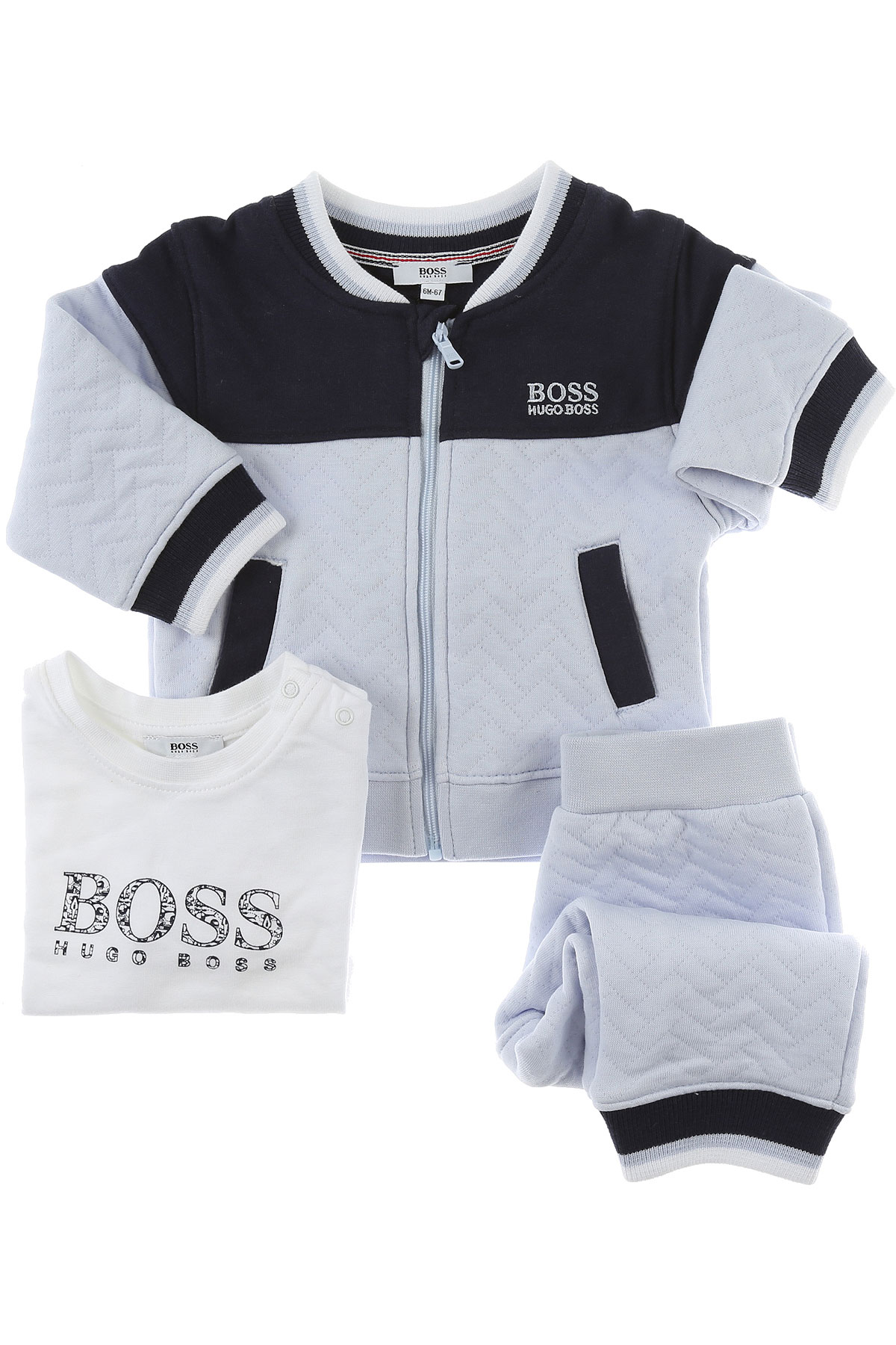 Image of Hugo Boss Baby Sets for Boys, White, Cotton, 2017, 12M 18M