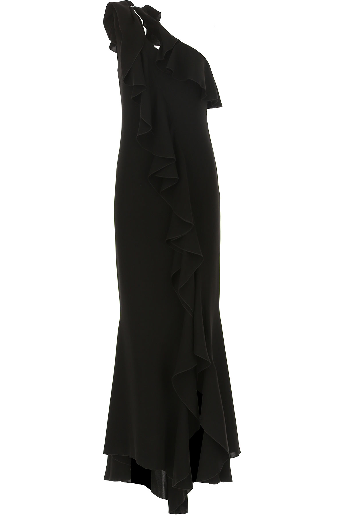 Hanita Dress for Women, Evening Cocktail Party On Sale, Black, polyester, 2019, 4 8