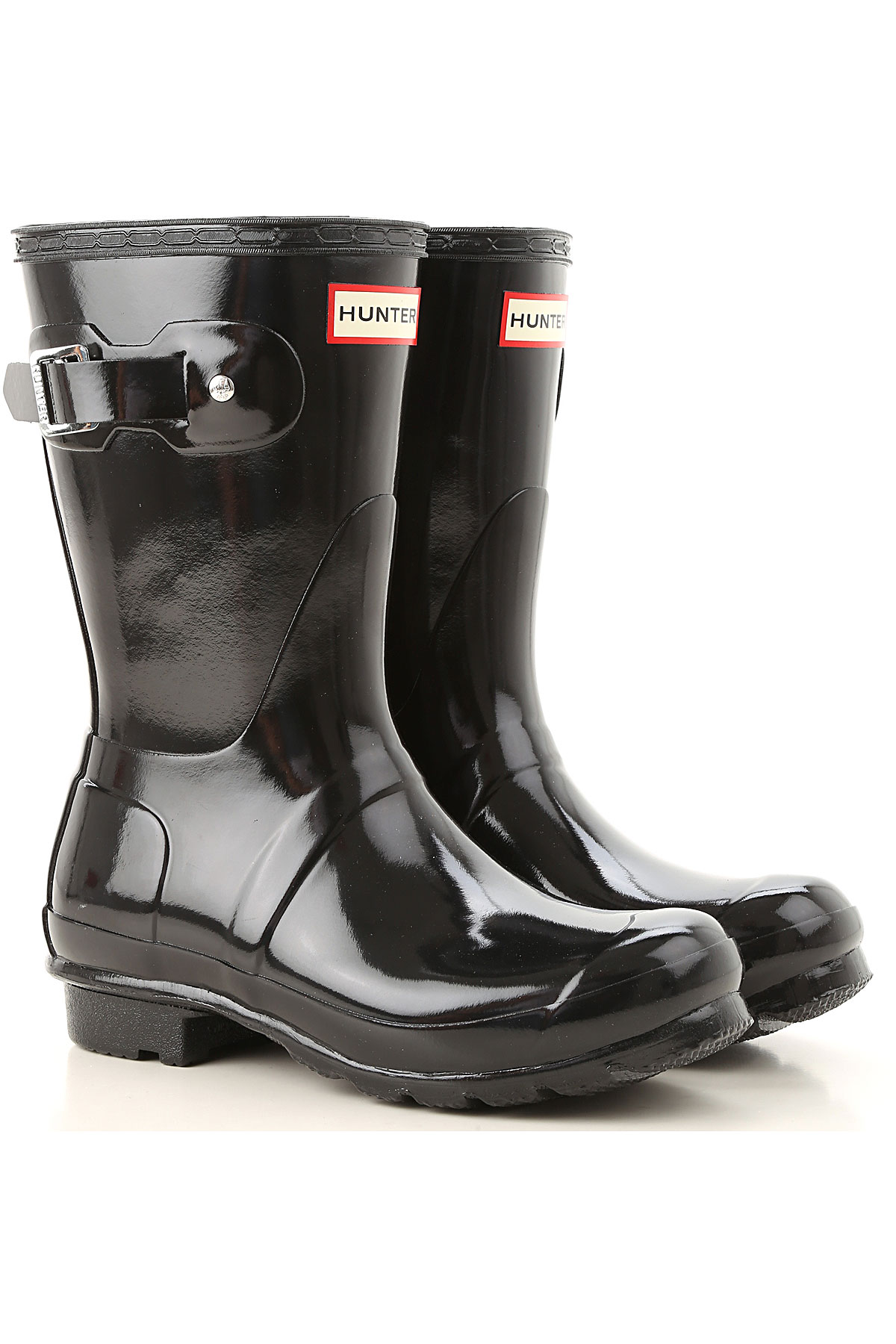 Image of Hunter Boots for Women, Booties, Black, Rubber, 2017, 7 8 9