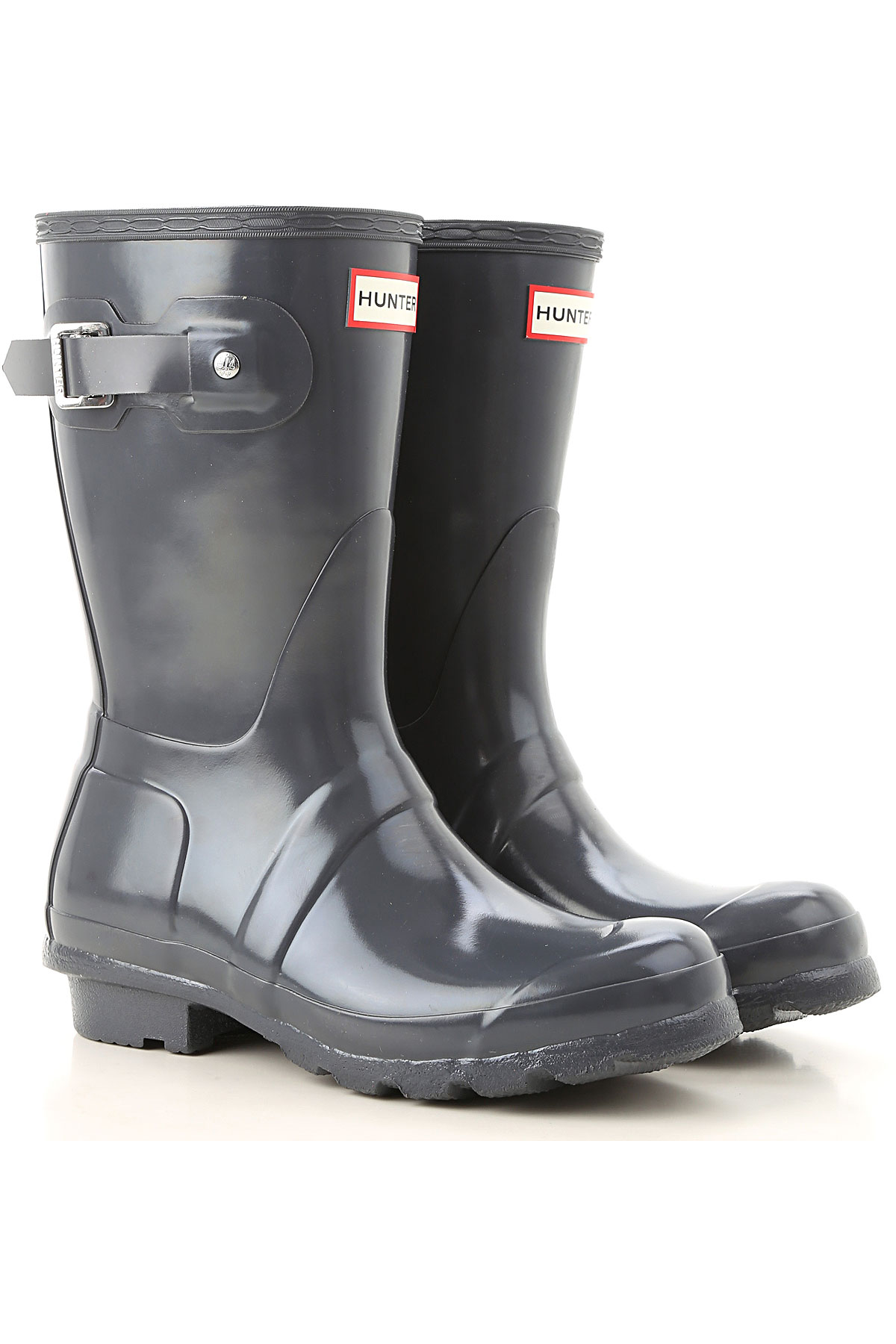 Image of Hunter Boots for Women, Booties, Dark Slate, Rubber, 2017, 6 7 8 9