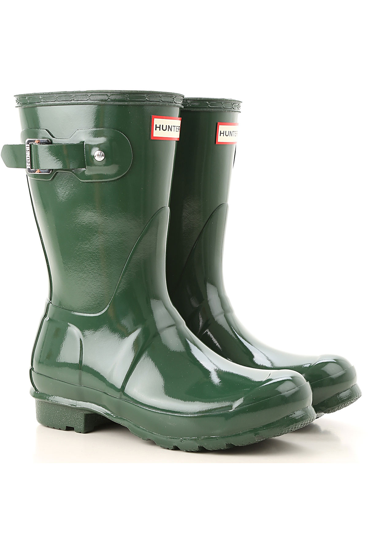 Image of Hunter Boots for Women, Booties, Green, Rubber, 2017, 6 7 8 9