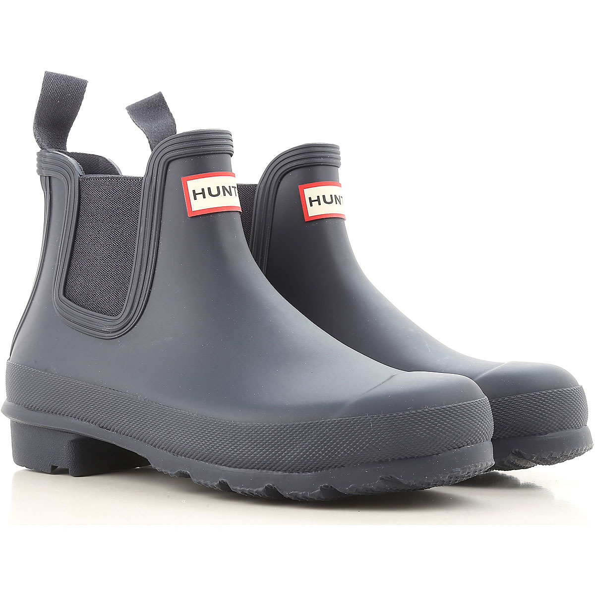 Image of Hunter Boots for Women, Booties, Navy Blue, Rubber, 2017, 6 7 8