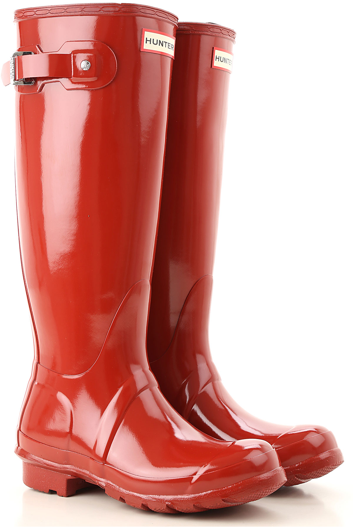 Image of Hunter Boots for Women, Booties, Military Red, PVC, 2017, 6 7 8 9