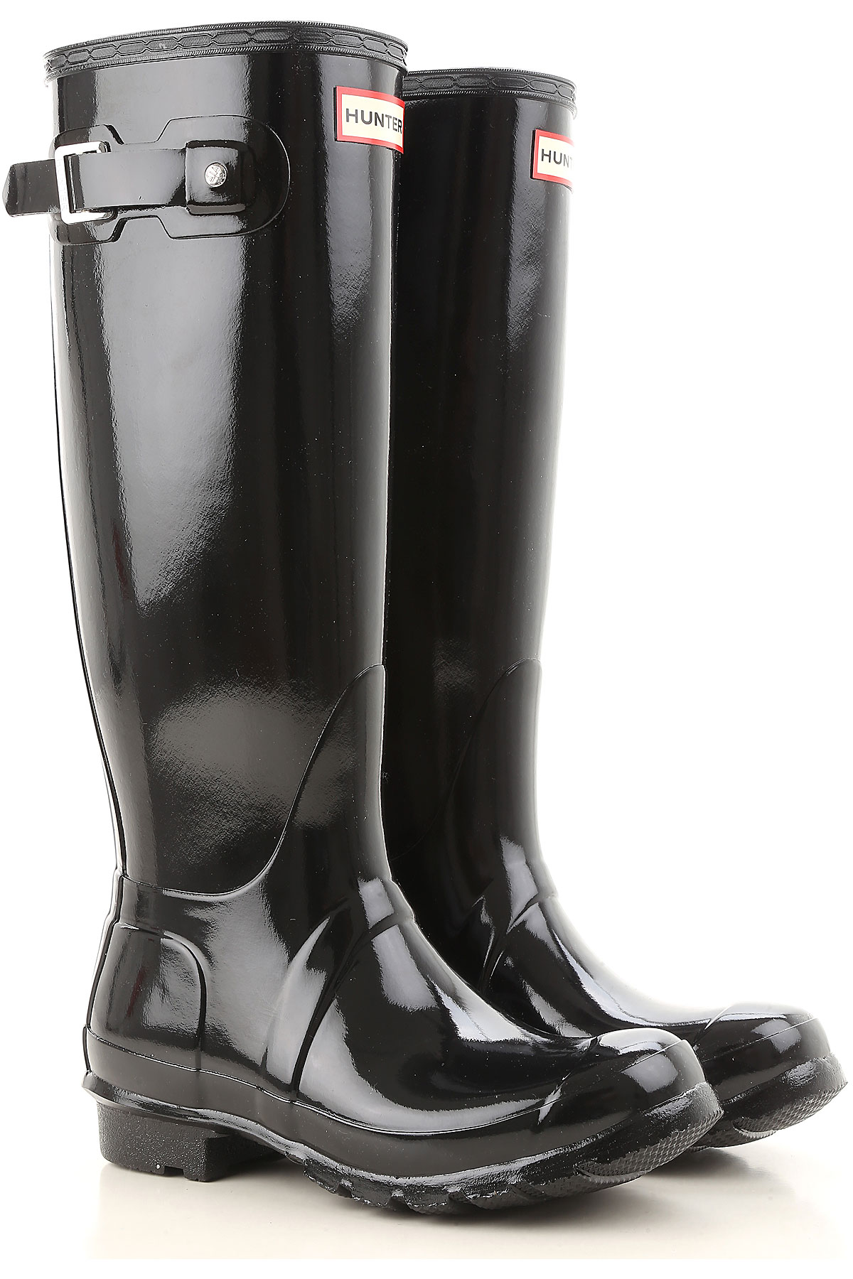 Image of Hunter Boots for Women, Booties, Black, Rubber, 2017, 6 7 8 9