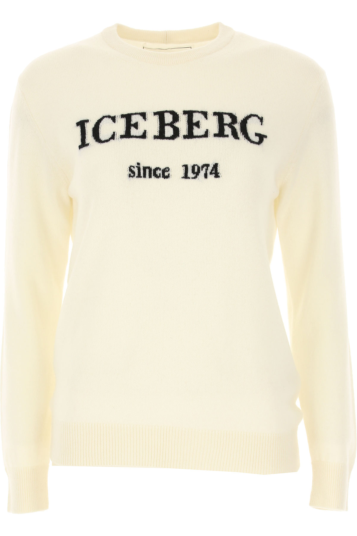 Iceberg Sweater for Women Jumper On Sale, White, Cashemere, 2019, 2 6