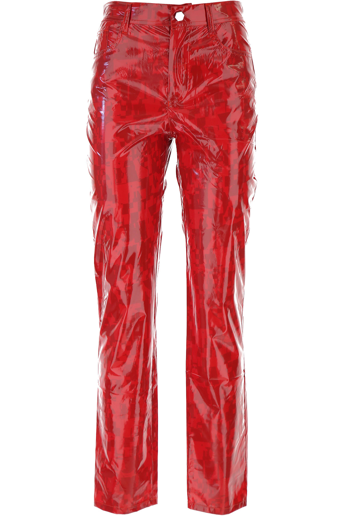 Iceberg Pants for Women On Sale, Cherry Red, polyester, 2019, 26 28