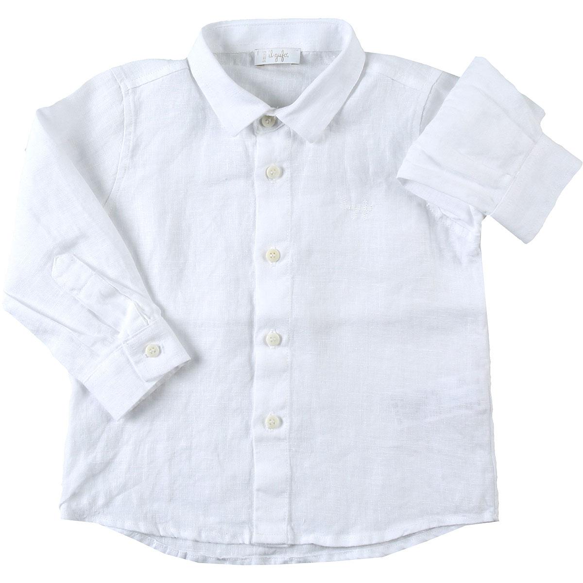 Il Gufo Chemises Bébé pour Garçon, Blanc, Lin, 2017, 12M 18M 9M