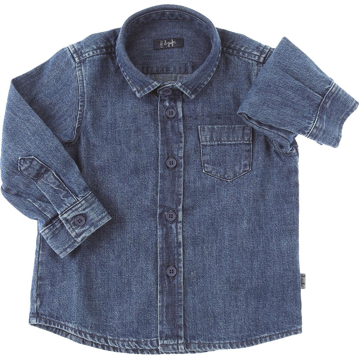Il Gufo Chemises Bébé pour Garçon, Bleu jean, Coton, 2017, 12M 18M 2Y 6M 9M