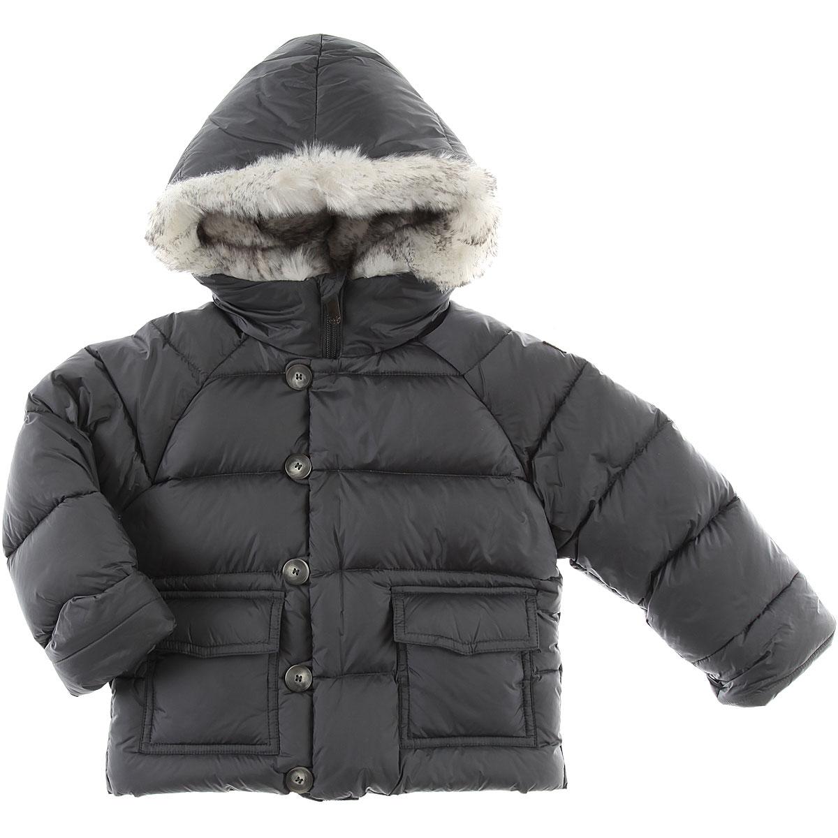 Image of Il Gufo Baby Down Jacket for Boys, Grey, polyamide, 2017, 12M 18M 2Y 6M 9M