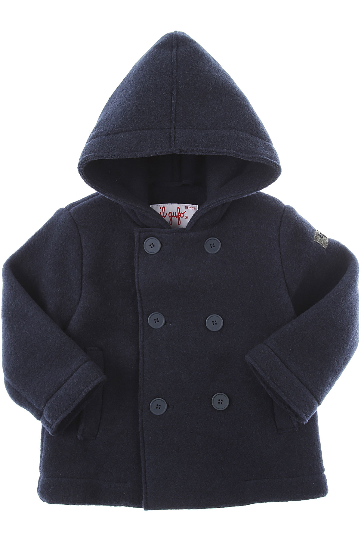 Il Gufo Baby Coats for Boys On Sale, Blue, polyester, 2019, 12 M 18M 2Y 9M