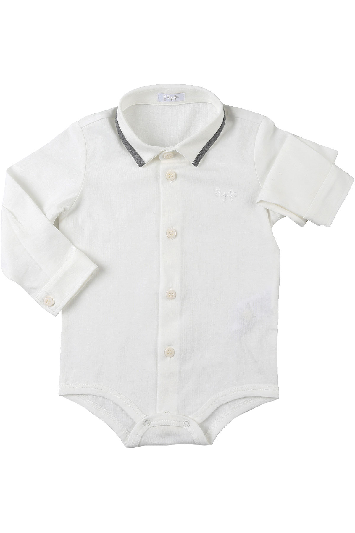 Il Gufo Baby Bodysuits & Onesies for Boys On Sale, White, Cotton, 2019, 3M 9M