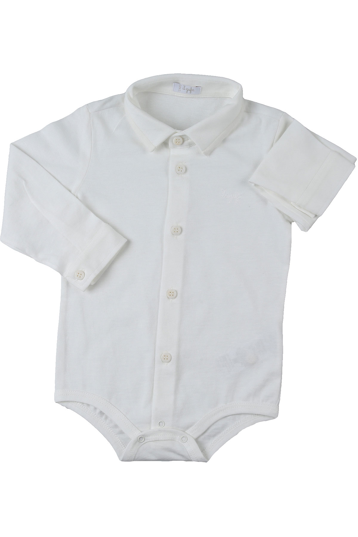 Il Gufo Baby Bodysuits & Onesies for Boys On Sale, White, Cotton, 2019, 12 M 18M 2Y 6M 9M